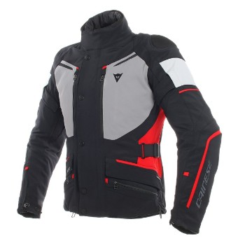 DAINESE dzseki - CARVE MASTER 2 GORE-TEX® JACKET BLACK/FROST-GREY/RED