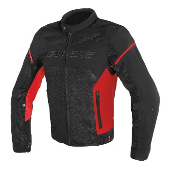 DAINESE dzseki - AIR FRAME D1 TEX JACKET BLACK/RED/RED