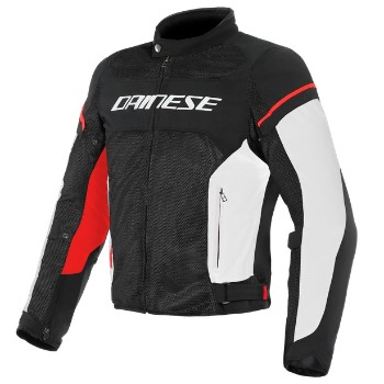 DAINESE dzseki - AIR FRAME D1 TEX JACKET BLACK/WHITE/RED