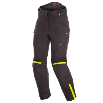 DAINESE nadrág - TEMPEST 2 D-DRY® LADY PANT BLACK/BLACK/FLUO-YELLOW